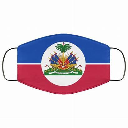 Flag Haitian Mask Face Rockatee
