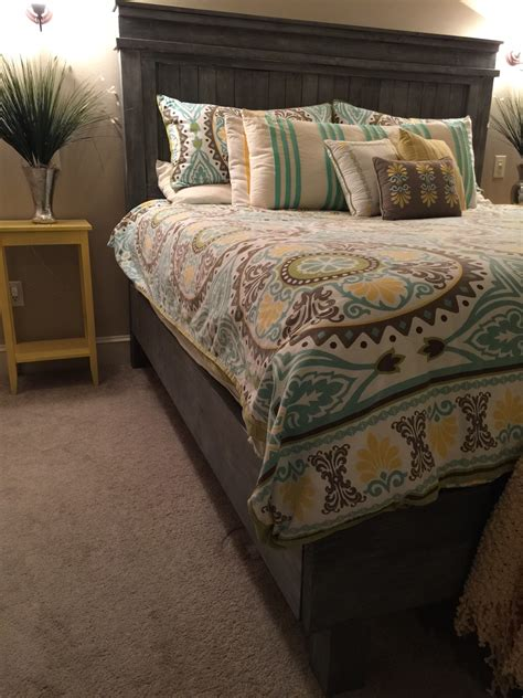 king size fancy farmhouse bed ana white