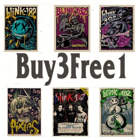 Blink Decor - home decor wall stickers classic band blink 182 home