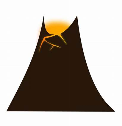 Clipart Volcano Clip Cliparts Arts Related Library