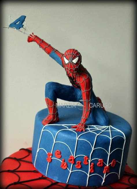 spiderman cake topper ideas  pinterest