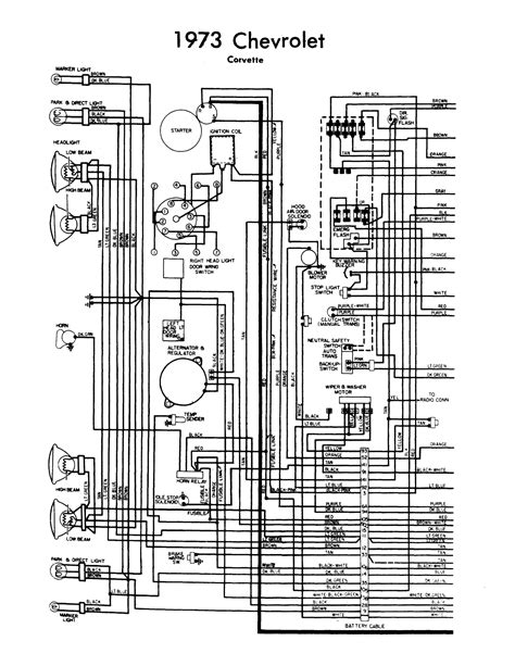 Gm Transmission Wiring Diagram Hecho by Wiring Diagram 1973 Corvette Chevy Corvette 1973 Wiring