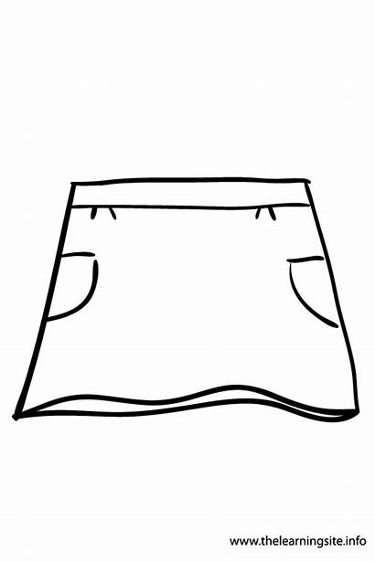 Shorts Skirt Template Coloring Outline Clothes Pants