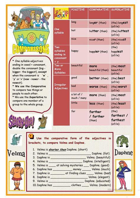 comparative  superlative adjectives worksheet