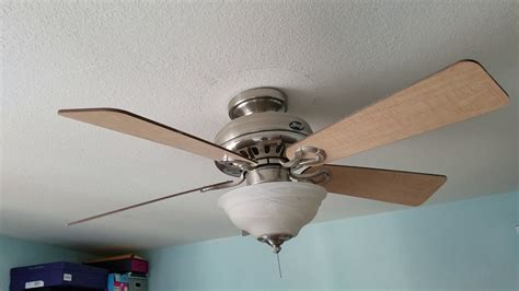 hunter stratford ceiling fan broken hunter stratford ii ceiling fan youtube