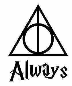 amazoncom always harry potter deathly hallows decal two With kitchen colors with white cabinets with deathly hallows sticker