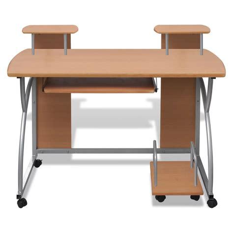table pour bureau la boutique en ligne table de bureau brune pour ordinateur