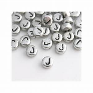 7mm silver acrylic alphabet beads letter quotjquot beadbubble With silver letter beads