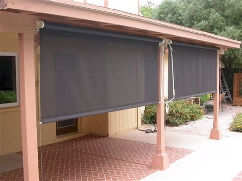 roll patio shades garden backyard ideas