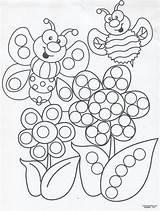Tip Painting Pages Sheets Coloring Preschool Dot Bingo Crafts Dauber Dots Paint Printable Spring Paintings Craft Activities Printables Sheet Voor sketch template