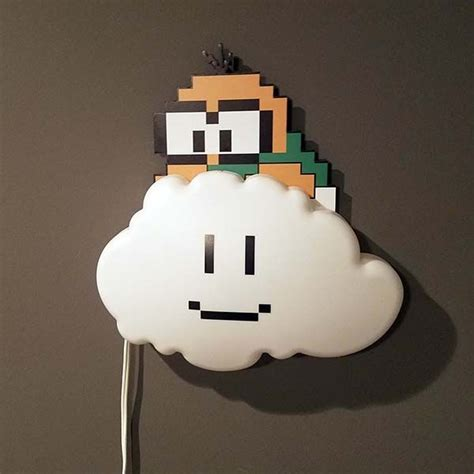 handmade super mario bros lakitu cloud led night light