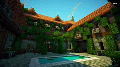 Minecraft Wallpapers Mansion Backgrounds Wallpaperaccess