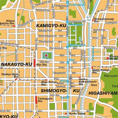 map  kyoto area bing