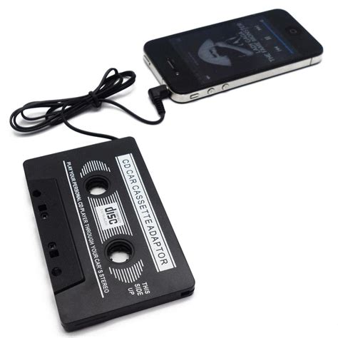 cd to iphone black car cassette player adapter iphone ipod mp3 cd