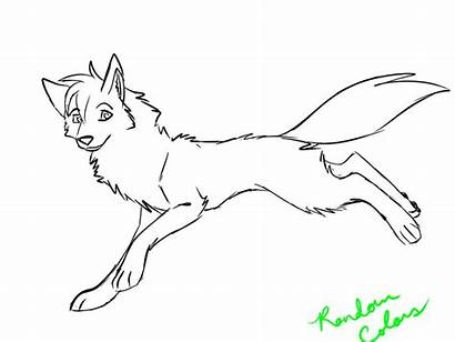 Wolf Coloring Pages Anime Female Wolves Printable