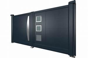 Portail Battant 5 Metres : portail aluminium battant et coulissant abc construction ~ Nature-et-papiers.com Idées de Décoration