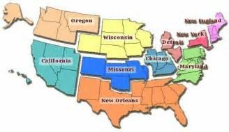 10 FEMA Regions United States Map