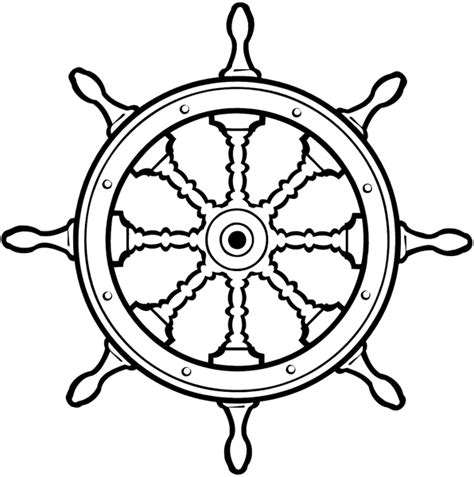 Boat Wheel Outline by Signspecialist Beevault Decals Ship S Wheel With