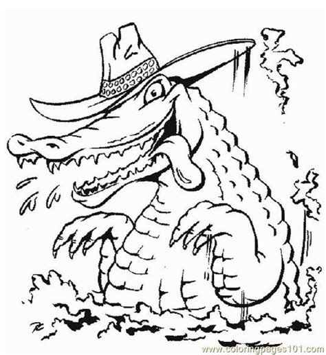 alligator style coloring page  alligator coloring