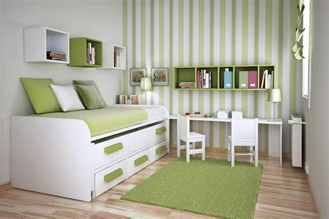 Bright Green Office Cozy Unique Small Space Bedroom