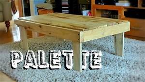 Comment Fabriquer Une Table De Ferme En Bois : fabriquer une table basse rustique en bois de palette youtube ~ Louise-bijoux.com Idées de Décoration