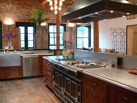 tribeca nyc duplex loft eclectic kitchen new york