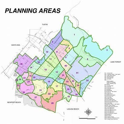 Irvine California Areas Planning Map County Orange