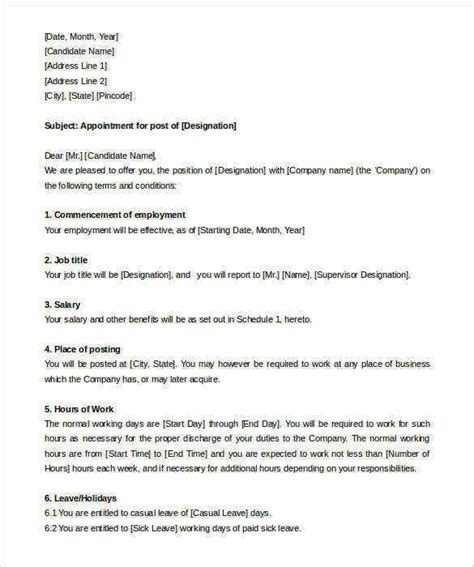 appointment letter templates  google  apple