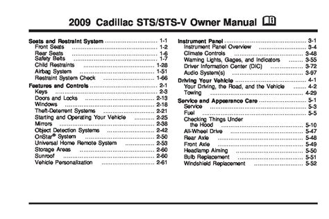 service manuals schematics 2011 cadillac sts electronic toll collection 2009 cadillac sts owners manual just give me the damn manual