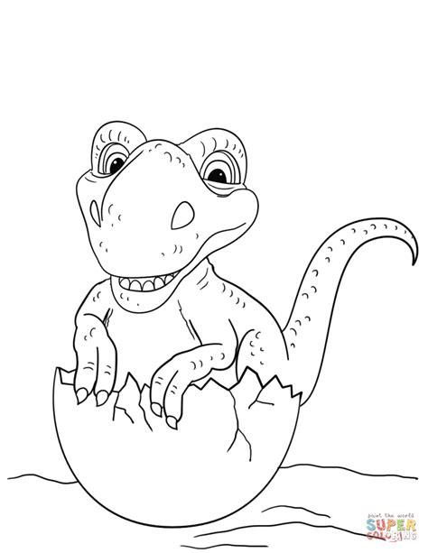 dinosaur hatching  egg coloring page  printable