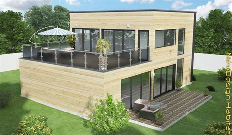 maisons en bois tarifs visuel modele maison en bois