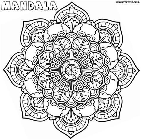 mandala coloring page intricate mandala coloring pages coloring pages to