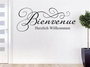 Haus Auf Französisch : wandtattoo bienvenue herzlich willkommen ~ Lizthompson.info Haus und Dekorationen