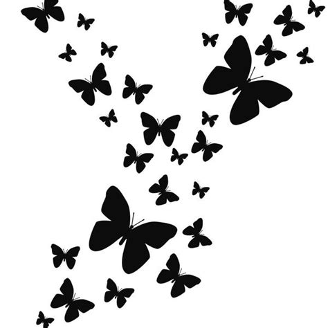 Wall stickers xpassion 3d butterfly wall stickers 24pcs art decor 3d butterfly wall decor template. Black Butterfly Wall Decals ~Butterfly Room Decor Stickers
