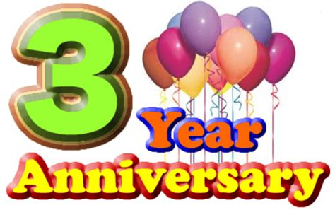 3rd year anniversary happy 3rd anniversary bluelion movie forums