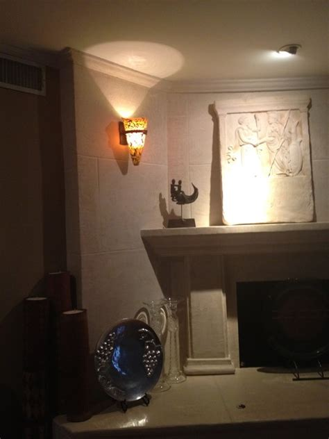 multi glass color iron wall sconce