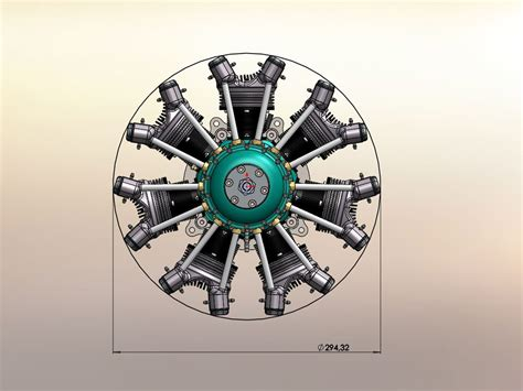 airen cc  cylinder radial gas engine hp gr
