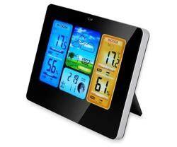 Oru stotis su spalvotu ekranu Skaitmeninis termometras ...
