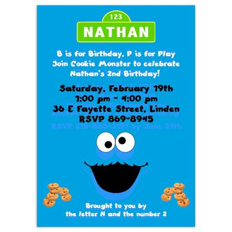 Cookie Invitation Template by Cookie Birthday Invitations Gangcraft Net