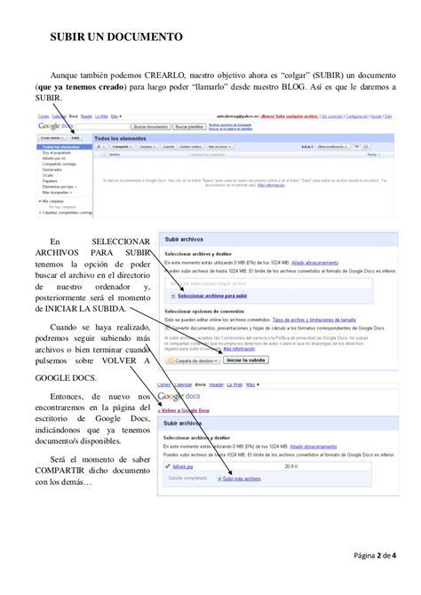 google documentos docs subir document documents multiple once forums