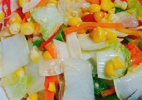 Masukkan sawi putih, tambah garam gula dan kaldu bubuk. Resep Tumis Sawi Putih, Wortel dan Jagung Manis oleh Arshiya Kitchen - Cookpad