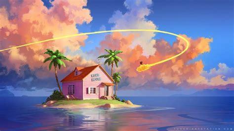 dragon ball kame house  tohad  deviantart fond