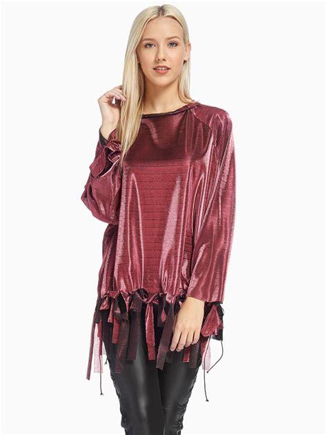 pink front ribbon blouse modishonlinecom