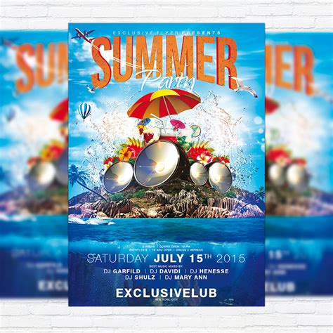 free summer c flyer template summer vol 4 psd flyer template cover exclsiveflyer free and premium psd