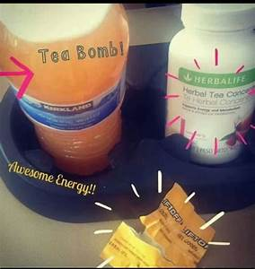 herbalife tea bomb mix lift with the tea and boom