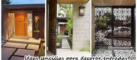 ideas sencillas  decorar la entrada de tu casa
