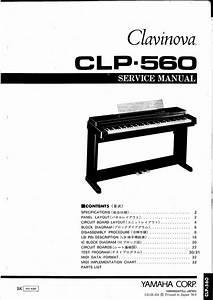Yamaha Clp-560 Clp560 Complete Service Manual