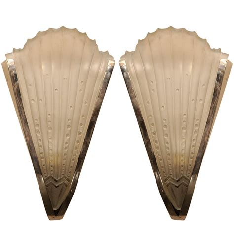 pair of art deco wall sconces paul stamati gallery