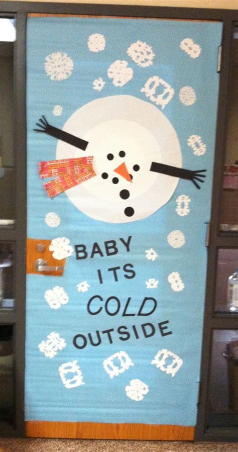 winter door decorations for preschool baby its cold outside snowman door decoration 120