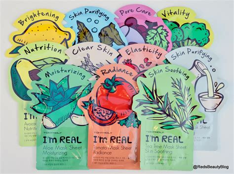 tony moly im real sheet masks rice clear skin  red